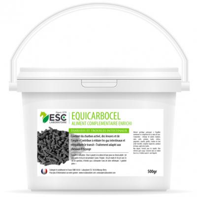 Equicarbocel – Diarrhée cheval – Complément enrichi à base de charbon végétal