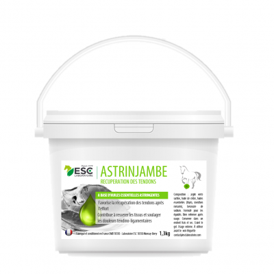 Astrinjambes – Récupération et engorgement tendons cheval – Argile enrichie en huiles essentielles