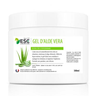 Gel d'Aloe Vera – A base de pulpe d'aloé – Soin régénérant de l'épiderme du cheval (500 ml)